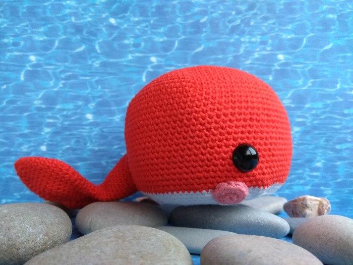Чудю-юдо рыба-кит Вязание крючком, Рукоделие без процесса, Кит, Своими руками, Мягкая игрушка