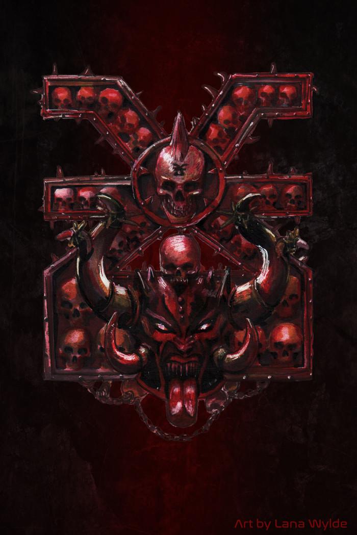 Немного Кхорна. Warhammer 40k, Wh art, Кхорн, Bloodletter, Длиннопост