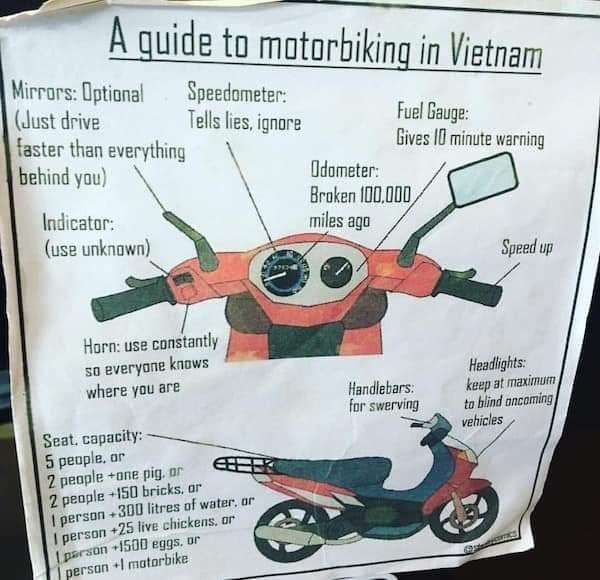 Памятка мотоциклисту во Вьетнаме Мото, Азия, Вьетнам, Юмор