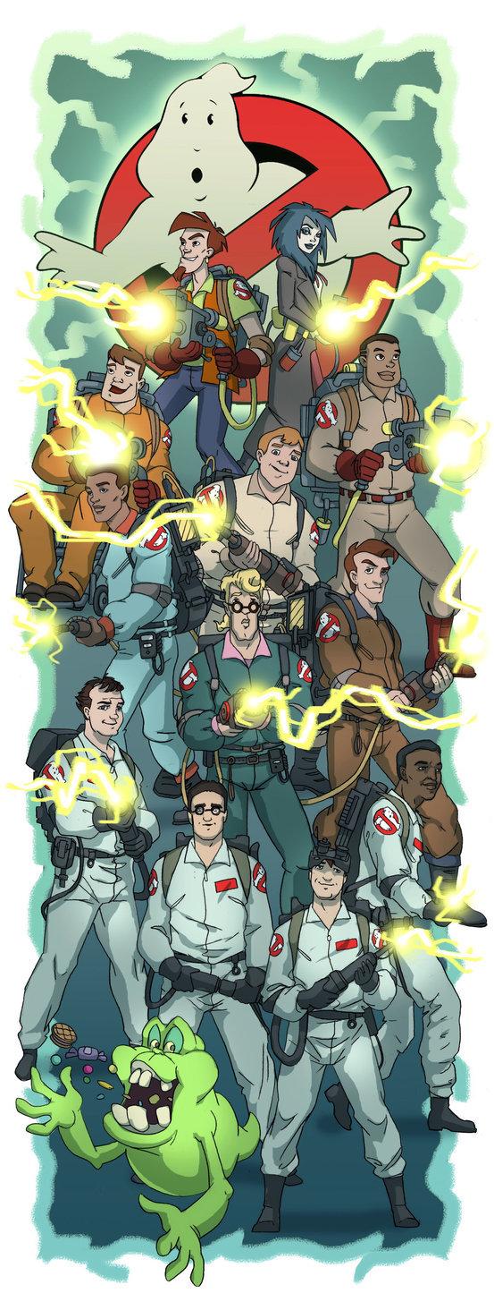 Охотники за привидениями. Охотники за привидениями, Ghostbusters, Extreme Ghostbusters, Арт