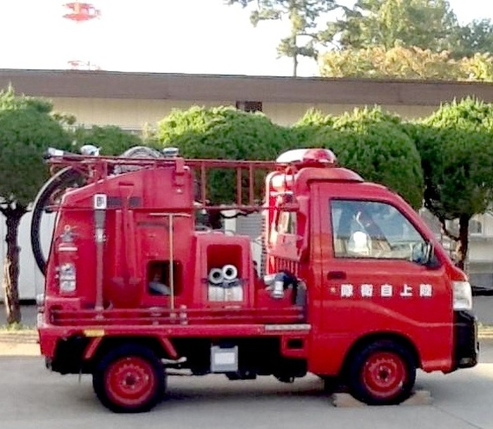Маленькая пожарная машина в Хоккайдо, Япония