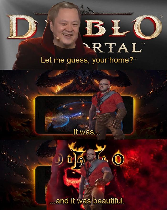 """""""Меня сочли безумцем...А предсказания сбылись"""" Diablo, Diablo II, Diablo Immortal, Картинка с текстом, Компьютерные игры, Юмор"""