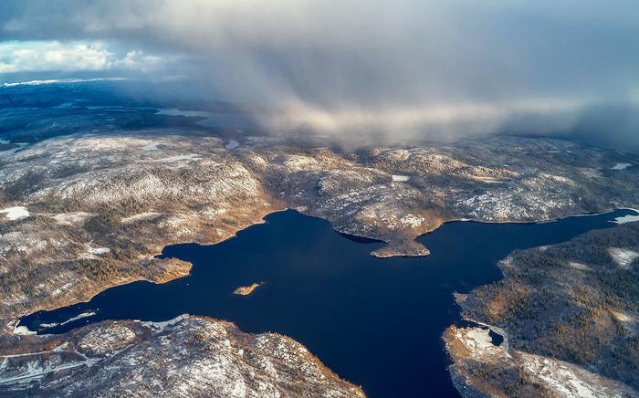 Снежный заряд Пейзаж, Природа, Кольский полуостров