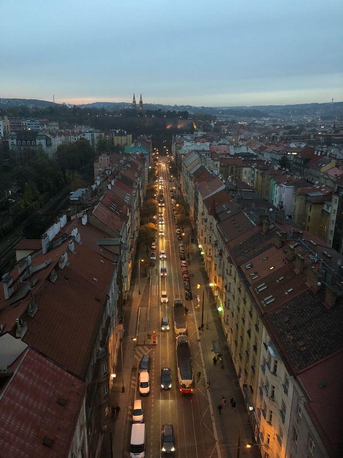 Вид с моста самоубийц, Прага