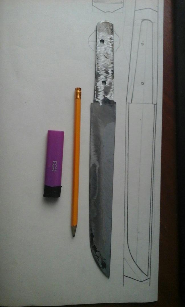 Перерождение ножа Своими руками, Рукоделие в процессе, Нож, Рестайлинг, Длиннопост