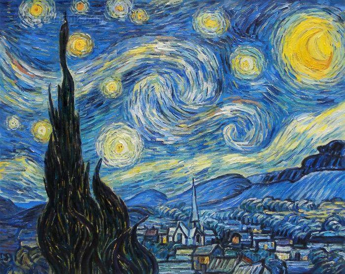Звёздная ночь. Две версии картины. Ван Гог, 7 Ноября