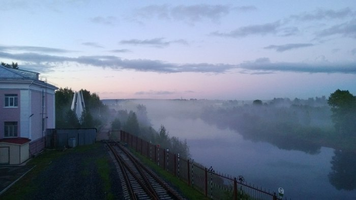 Летний туман Ухта, Тума, Туман, Фотография, Не новое, Длиннопост