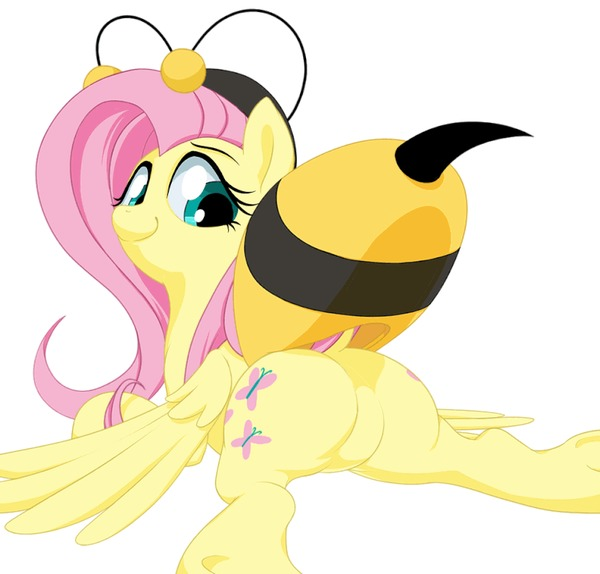 Flutter Bee My Little Pony, Fluttershy, Пчелы, MLP Edge, Гифка