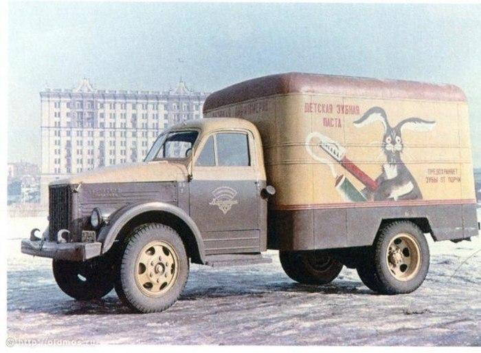 Реклама на грузовиках в СССР Реклама, СССР, Грузовик, Заяц, Из сети, Длиннопост