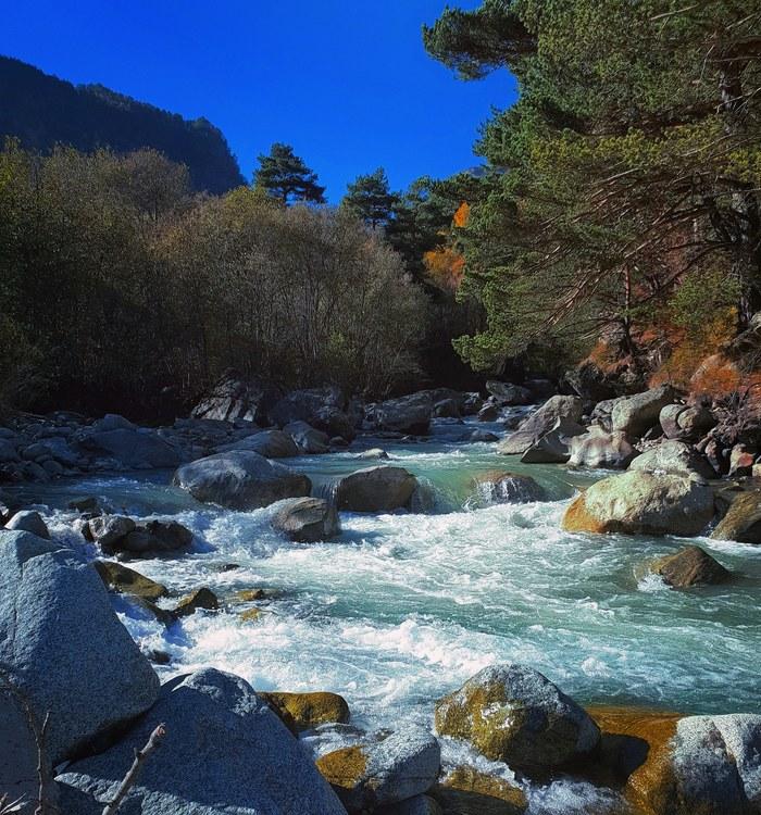 Река Урух Горы, Река, Северная Осетия, Фотография, Природа, Без рейтинга