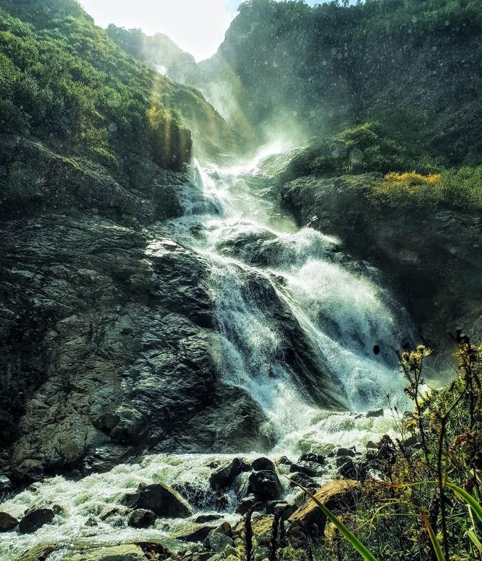 Водопад три сестры. Водопад, Горы, Северная Осетия, Фотография, Природа, Без рейтинга