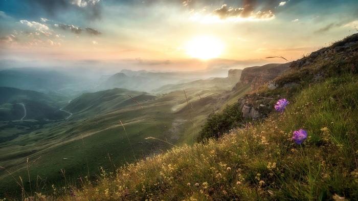 Кавказский хребет. Фотография, Красота природы, Россия