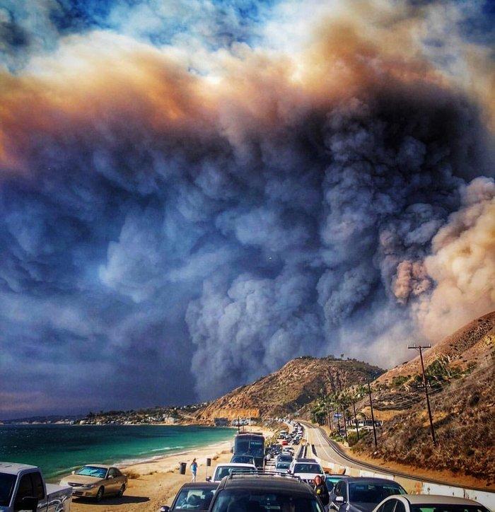 Пожар в Малибу США, Малибу, Пожар, Пляж, Побережье, Калифорния