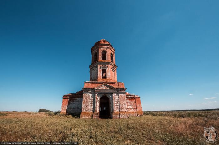 Заброшенная церковь на месте исчезнувшей деревни Татарстан, Заброшенное, Церковь, Длиннопост