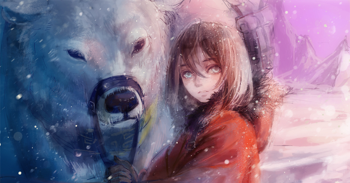 Sexy polar bear and japanese girl