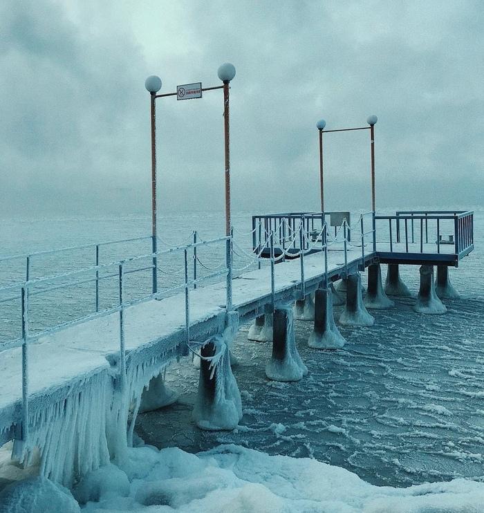 На берегу Обского моря Море, Новосибирск, Зима