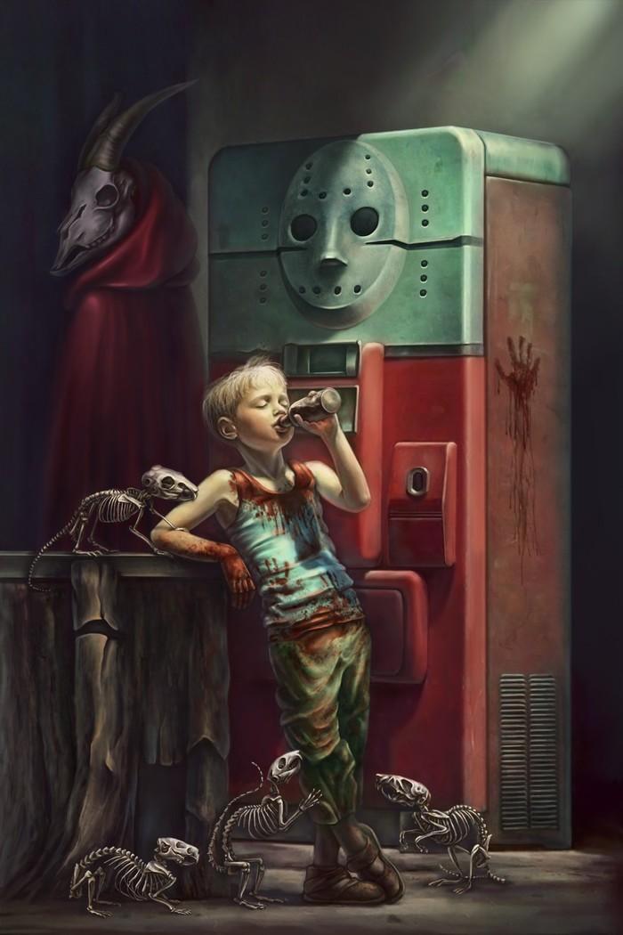 Harmless games Арт, Рисунок, Скелет, Крипота
