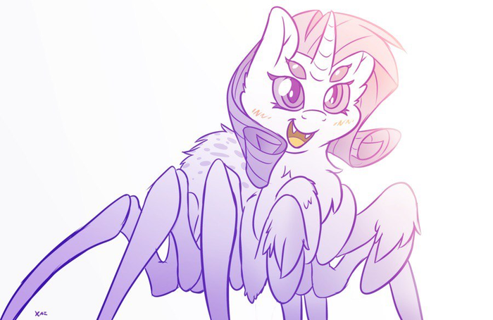 Небольшая подборка пони-пауков My Little Pony, Spiderpony, Паук, Pinkie Pie, Rarity, Fluttershy, AppleJack, Длиннопост