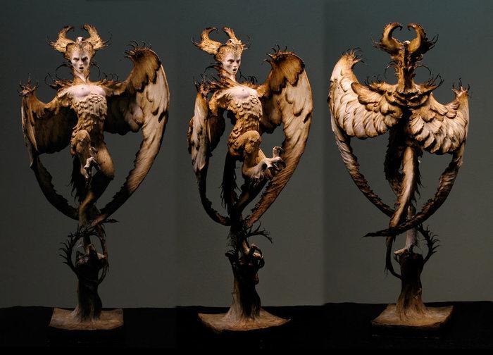 Гарпия Ручная работа, Статуя, Гарпия, Форест Роджерс, Фотография, Полимерная глина