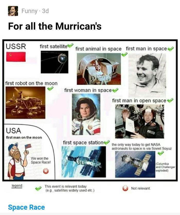 Комментарий на 9gag 9gag, США, СССР, Комментарии, Космическая гонка