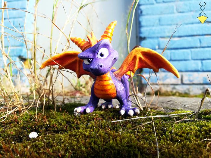 Spyro фигурка. С процессом создания Спайро, Spyro, Фигурка, Дракон, Spyro the Dragon, Handmade, Рукодельники, Рукоделие с процессом, Длиннопост