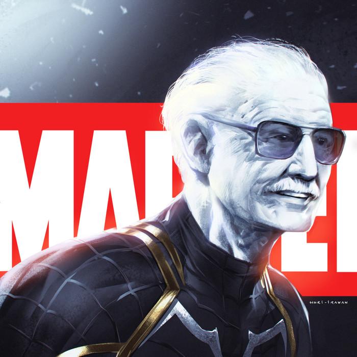 Super Hero Арт, Рисунок, Стэн Ли, RIP
