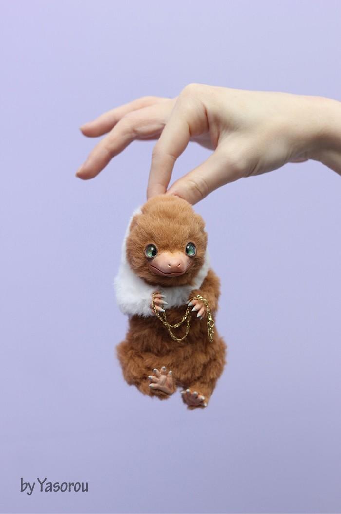 Малыши Нюхли Нюхлер, Фантастические твари, Гарри Поттер, Niffler, Handmade, Игрушки, Полимерная глина, Длиннопост