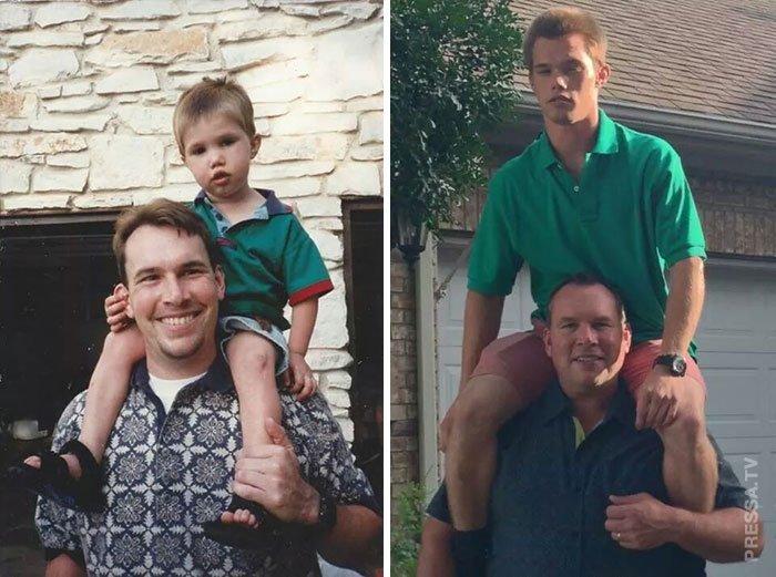 А это весело! Воссоздание старых семейных фото спустя много лет Семейное фото, Милота, Фотография, Позитив, Было-Стало, До и после, Длиннопост