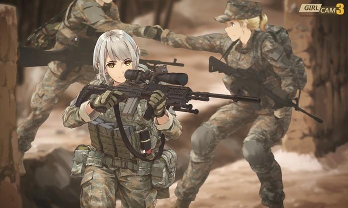 Military girls Anime Art, Подборка, Длиннопост
