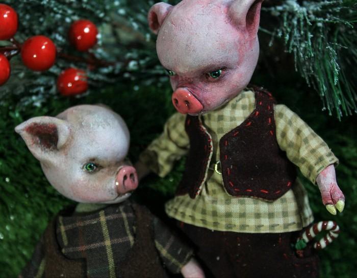 Одна история из жизни свиней... Ручная работа, Год свиньи, PIGS, Ladoll, Своими руками, Рукоделие без процесса, Длиннопост