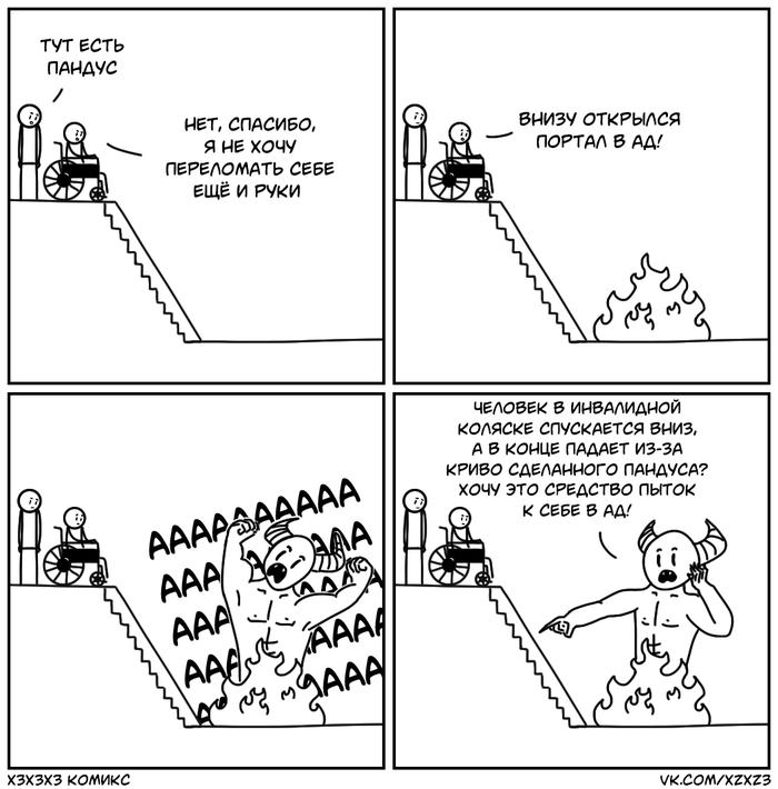 Опасный пандус Комиксы, Юмор, Xzxz3, Пандус