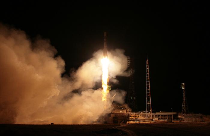Ракета Союз-ФГ стартовала с Байконура Ракета, Космос, Пуск, Космодром, Роскосмос, МКС, Видео, Длиннопост