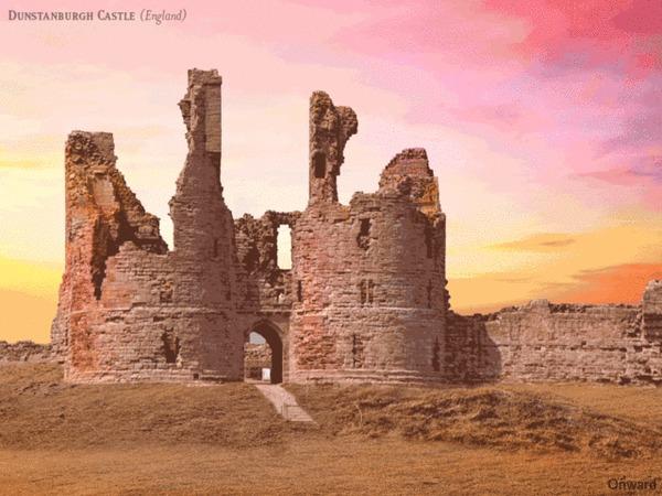 Эффектная GIF-реставрация: как выглядели британские замки История, Замки, Реконструкция, Гифка, Длиннопост