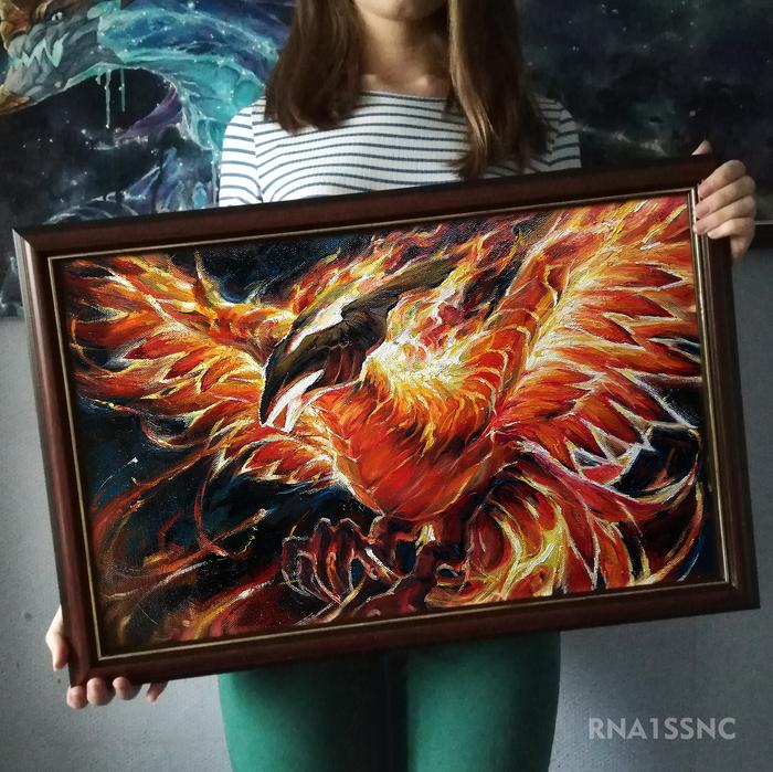 Phoenix (DOTA2). Феникс, Dota 2, Rna1ssnc, Картина маслом, Живопись, Игры, Картина