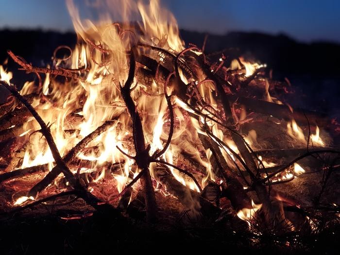 Вечерний костерок Костер, Своя атмосфера, Атмосфера, Огонь, Тепло