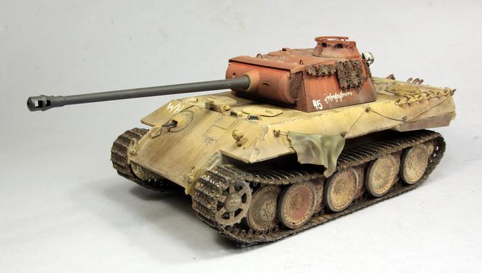 Sd.Kfz.171 Panther ausf.A late Meng 1/35 Стендовый моделизм, БТТ, Моделизм, Танки, Масштабная модель, Масштаб, Аэрограф, Длиннопост