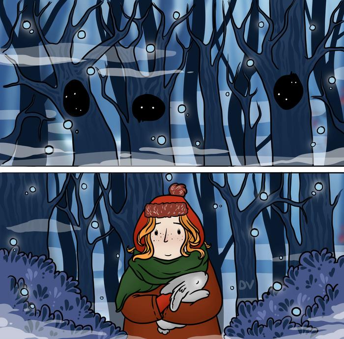 Моя первая сказка Иллюстрации, Сказка, Длиннопост, Рисунок, Цифровой рисунок