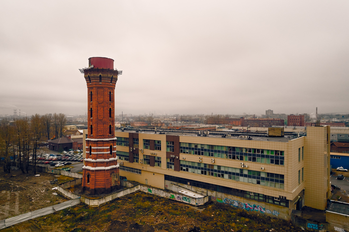 Водонапорная башня (продаётся) Аэросъёмка, Башня, Водонапорная башня, Санкт-Петербург