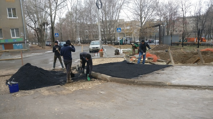 Укладка асфальта в Рязани в ЗЕМЛЮ!!!! Рязань, Дорога, Дорожные рабочие, Асфальт