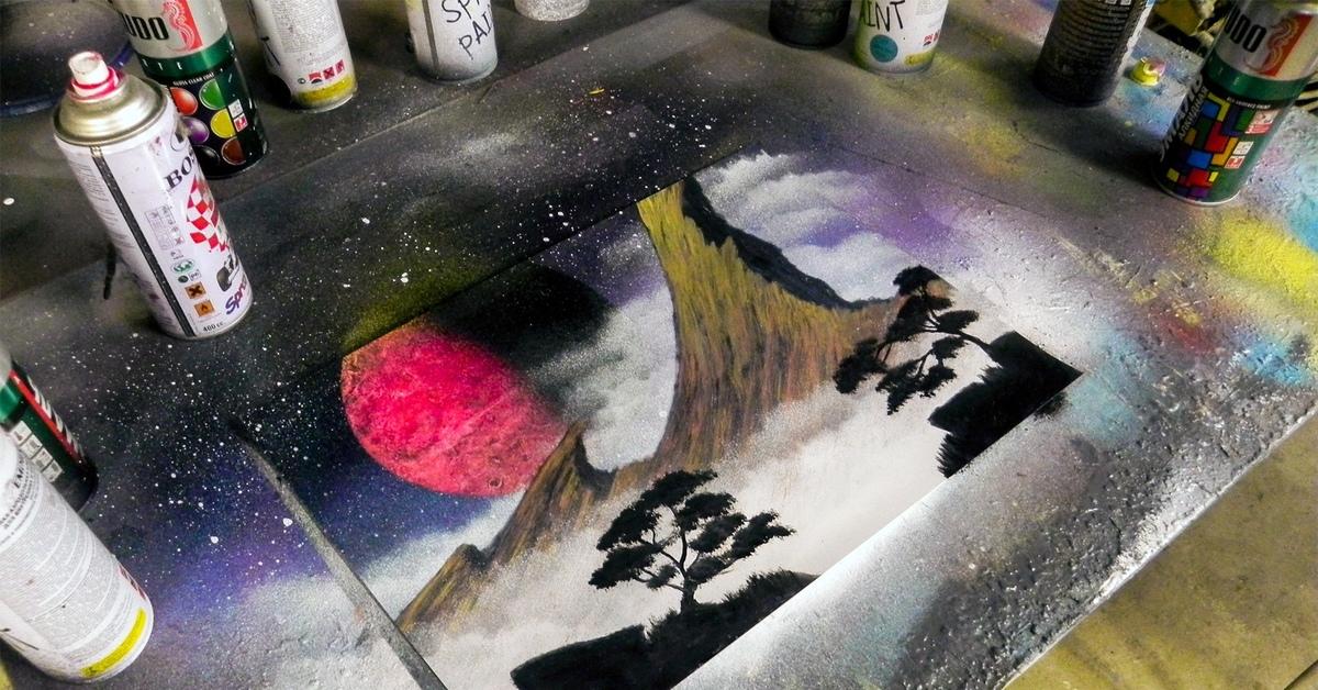 Картинки из баллончика с краской