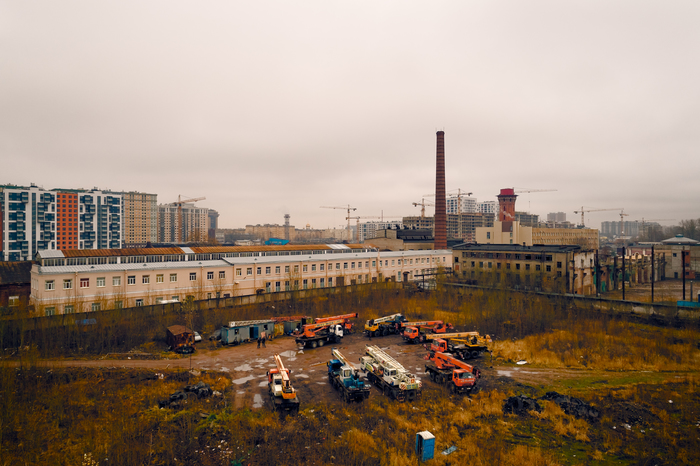 Тусовка автокранов и новостройки Автокран, Новостройка, Санкт-Петербург