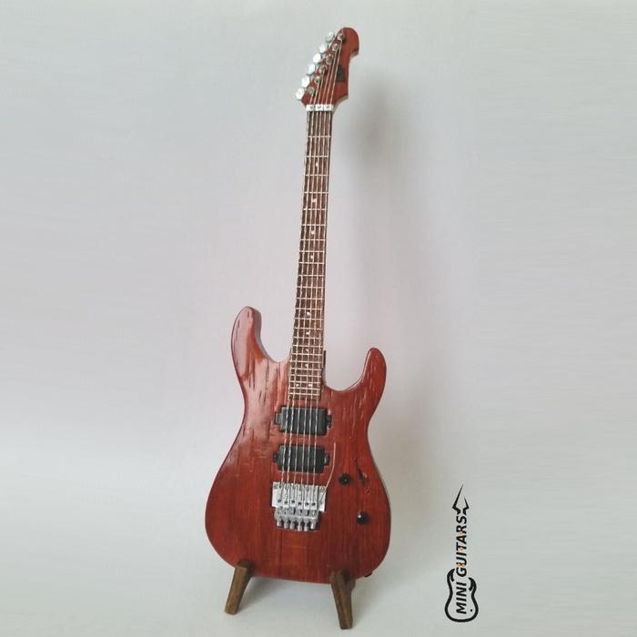 Мини гитара ESP ESP, Miniatures, Мини, Гитара, Guitar cover, Handmade, Рукоделие без процесса, Своими руками