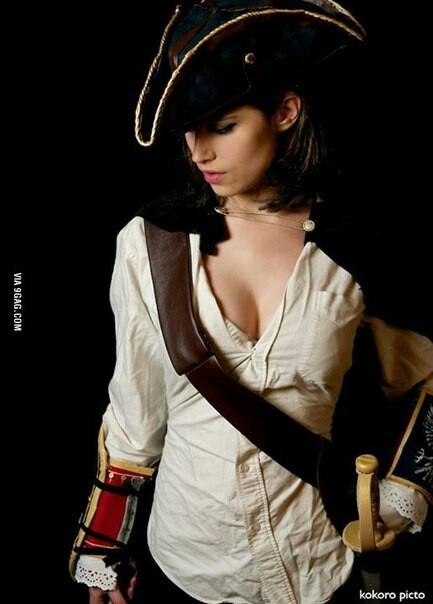 Девушка Капитан? А почему бы и нет) Косплей, Красивая девушка, Пираты, Пираты карибского моря, Контент, Длиннопост