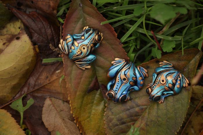 Лягушатки из полимерной глины в стилистике биомеханика. Жаба, Лягушка, Биомеханика, Полимерная глина