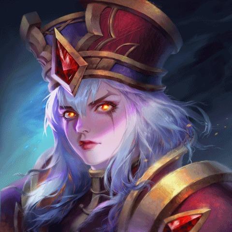 Sally Whitemane by Schrodinger's Cat World of Warcraft, Whitemane, Scarlet Crusade, High Inquisitor, Blizzard, Warcraft, Game Art, Гифка