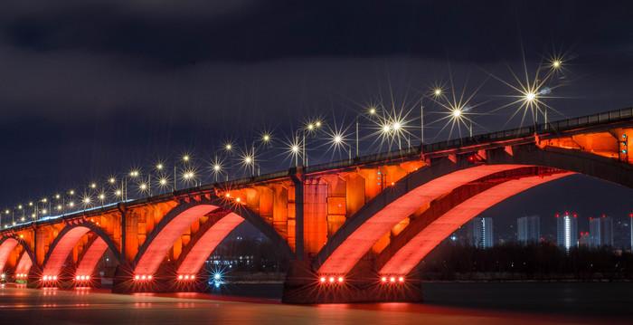 Огни Енисея Nikon, Набережная, Nikon d5100, Енисей, Красноярск, Длиннопост, Длинная выдержка