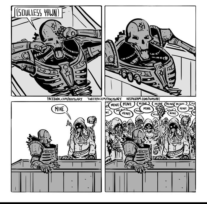 Проснулся Warhammer, Wh humor
