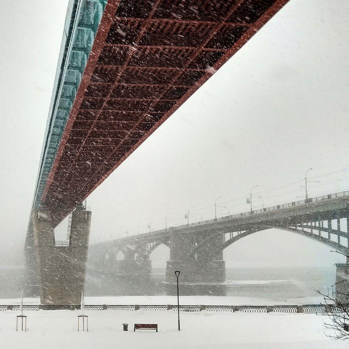 Набережная г.Новосибирск Новосибирск, Набережная, Фотография, Зима, Снег, Россия
