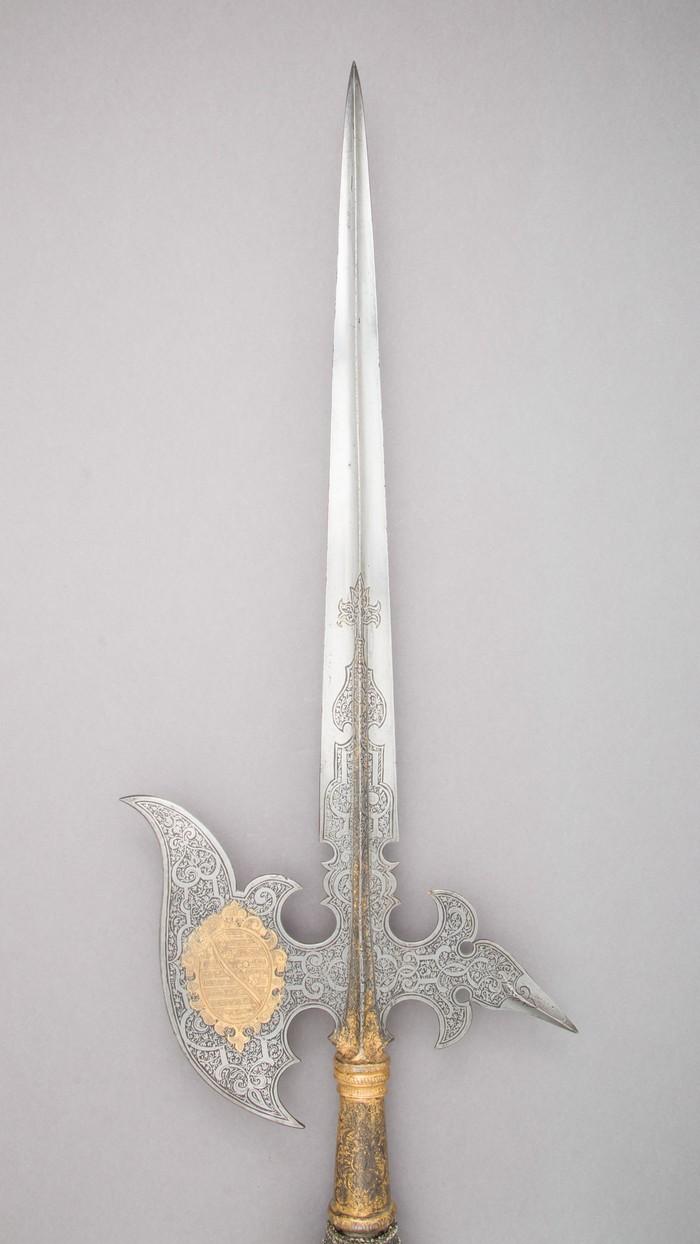 Алебарда гвардии выборщиков Алебарда, Священная римская империя, Саксония, XVII век, Холодное оружие, Длиннопост