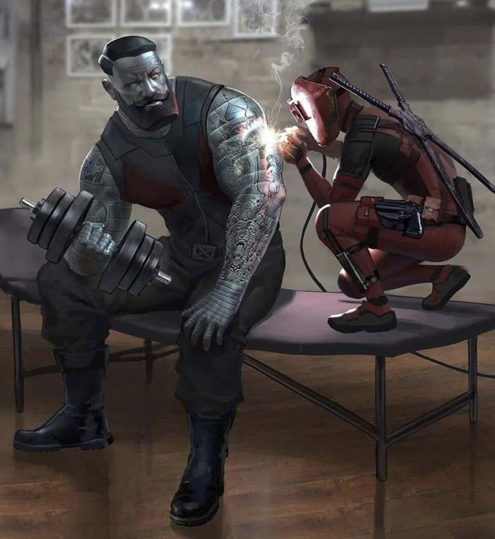 Резьба по металлу Арт, Картинки, Marvel, Deadpool, Колосс